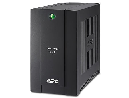 UPS APC Back-UPS BC650-RSX761, 650VA/360W, 230V, 4 x CEE Schuko sockets (3 Battery Backup, all 4 Surge Protected), LED indicators