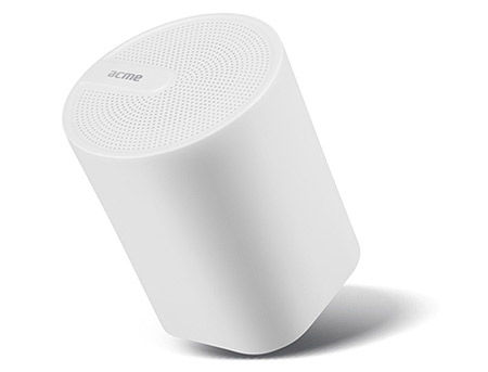 ACME SP109W Dynamic Bluetooth speaker White, 3W, 90Hz–20kHz, 80 dB, Li-polymer 300 mA, Battery life: up to 6 hours, USB (boxe portabile sistem acustic/колонки портативные акустическая сиситема), www
