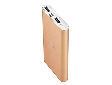 ACME PB15GD Gold Power bank, Li-polymer 10 000 mAh (37 Wh), Input 1: Lightning DC 5 V/1.5 A, Input 2: Micro USB, DC 5 V/2 A, (acumulator extern universal / универсальный мобильный внешний аккумулятор) www