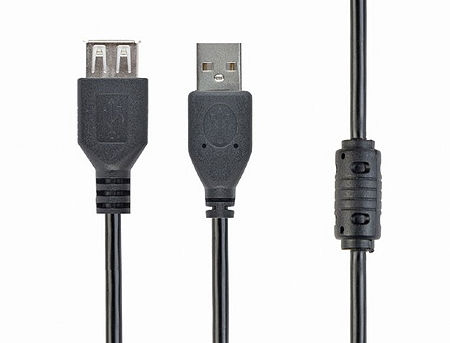 Gembird CCF-USB2-AMAF-10 Premium quality USB2.0 extension A-plug A-socket, cable 3 m,with ferrite core