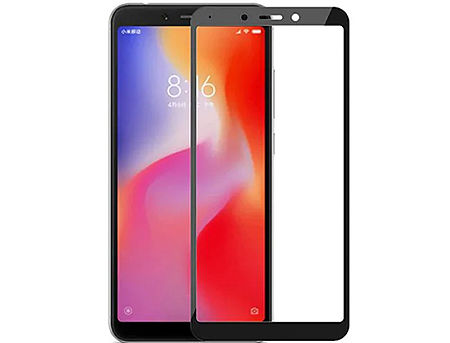 320018 Screen Geeks sticla protectie Xiaomi RedMi 6 Full Cover Glass Pro, Black (защитное стекло для смартфонов Xiaomi, в асортименте)