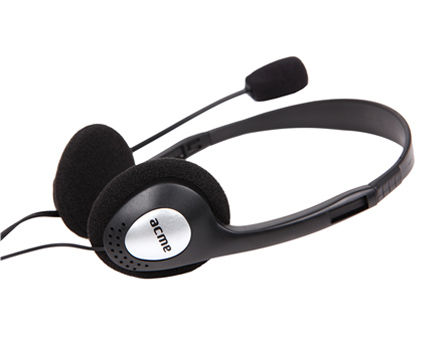 Acme CD-602 headphones with microphone, 20 Hz - 20 kHz, 105+/-3 dB, 32 Ohm, 1.75m (casti cu microfon/наушники с микрофоном)