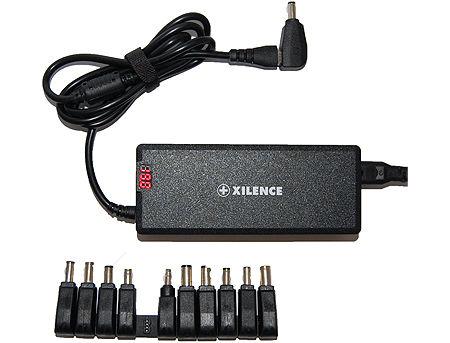 Xilence XP-LP75.XM008 Universal notebook adapter 75W, In DC 100V - 240V, Output 15V-24V, 11 adapters, LED Display, (adaptor universal pentru laptop / универсальный адаптер для ноутбука)