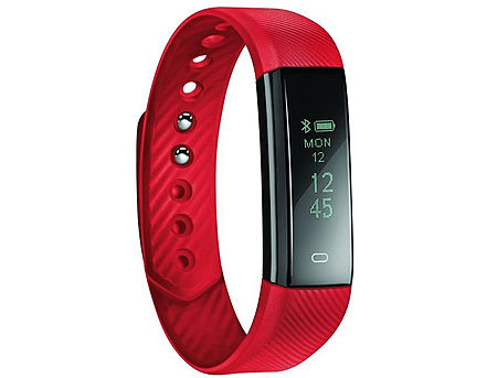 "Acme ACT101R Red activity tracker, 0.86"" OLED, Li-ion, Accelerometer, Pedometer, Touch Screen, Bluetooth 4.0 (smart band / смарт браслет) www"