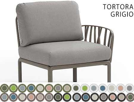 Element Terminal Canapea Nardi KOMODO ELEMENTO TERMINALE DX/SX acrilic fabric (32 combinatii de culori)