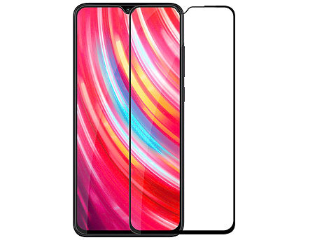 420019 Screen Geeks sticla protectie Xiaomi Redmi Note 8 Pro Full Cover Glass Pro All Glue 4D, Black (защитное стекло для смартфонов Xiaomi, в асортименте)