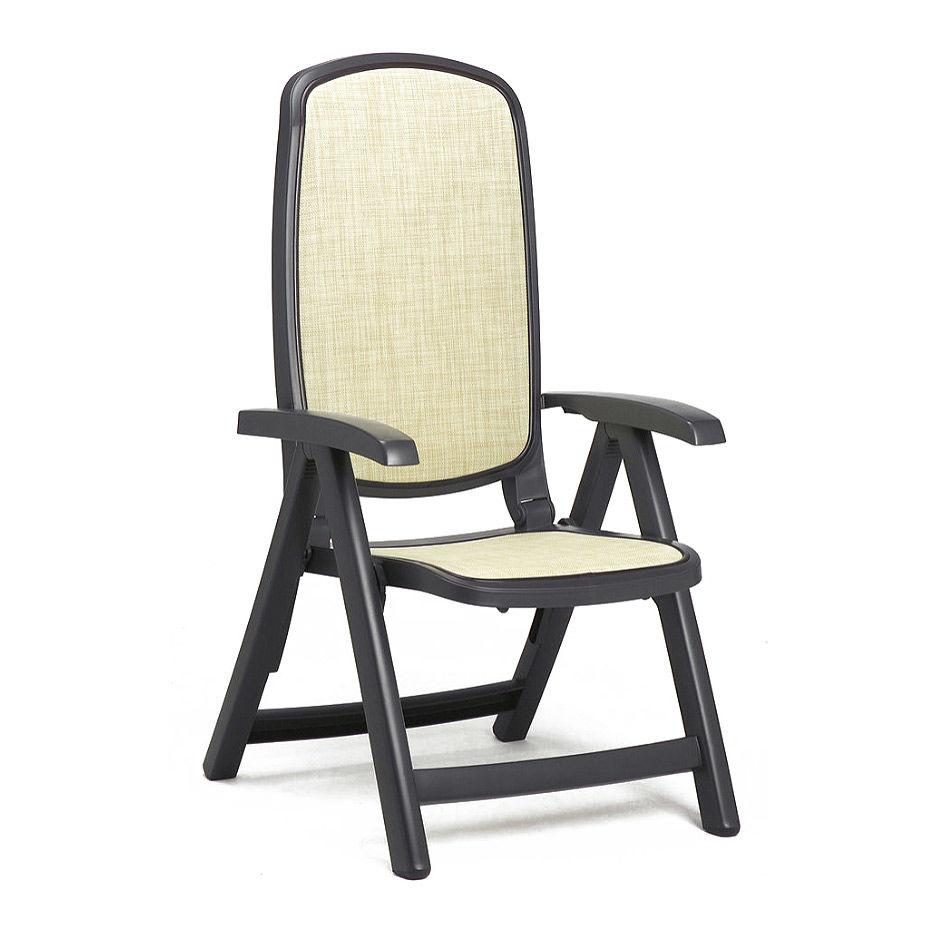 Кресло складное Nardi DELTA ANTRACITE beige 40310.02.105 (Кресло складное для сада и террасы)
