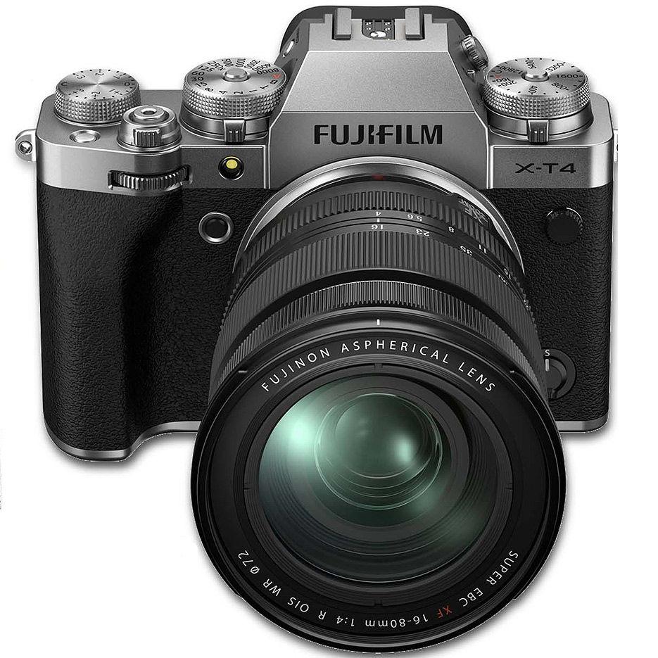 Fujifilm X-T4 silver XF16-80mm F4 R OIS WR Kit, Mirrorless Digital Camera Fujifilm X System (Aparat fotografic)