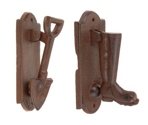 Decor pentru gradina din metal si lemn