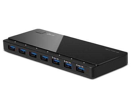 TP-Link UH700 USB Hub 7 ports, USB 3.0 external power adapter, Black