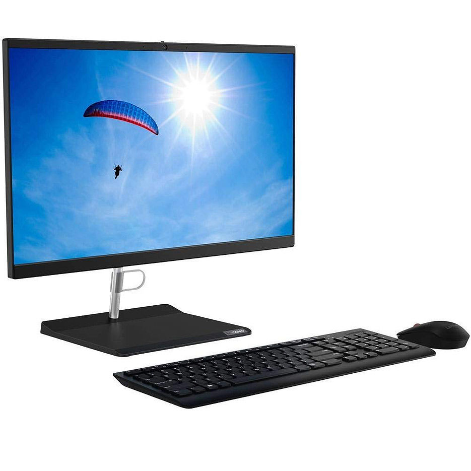 "Monobloc PC Computer 23.8"" Lenovo IdeaCentre AIO V30a-24IML Black, Intel Core i3-10110U 2.1-4.1GHz/8GB DDR4/256GB SSD M.2 2280 PCIe NVMe/Intel UHD Graphics/DVDRW/WebcamHD/Speakers 2x3W/WiFi 802.11AC +BT5.0/Gigabit LAN/23.8"" IPS FHD Anti-glare (1920x1080)/Keyboard&Mouse/No OS"