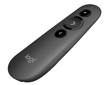 Logitech R500 Black Laser Presentation Remote 2.4 GHz wireless, Up to 20-meter range, Battery indicator, Red laser pointer, Bluetooth & 2.4GHz wireless connection, 910-005386