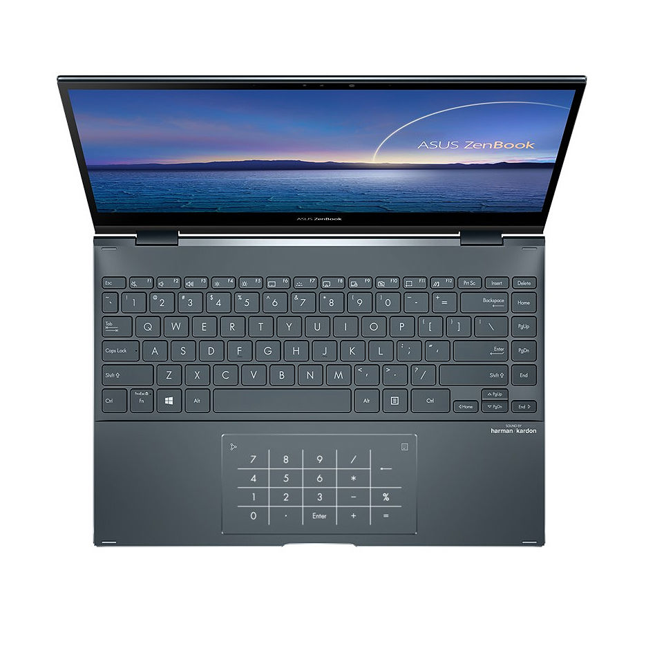 "Ноутбук 13.3"" ASUS ZenBook Flip 13 UX363JA Pine Grey, Intel i5-1035G1 1.0-3.6Ghz/8GB LPDDR4X/SSD 256GB M.2 NVMe/Intel UHD Graphics/WiFi 6 802.11ax/BT5.0/HDMI/HD WebCam/Illum. Keyb./Number Pad/13.3"" IPS Touchscreen Glossy (1920x1080)/Windows 10 UX363JA-EM010T"