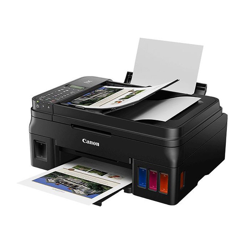 Multifunctional inkjet MFD CISS Canon Pixma G4411, Color Printer/Scanner/Copier/FAX/Wi-Fi, ADF(20-sheet), A4, Print 4800x1200dpi_2pl, Scan 600x1200dpi, ESAT 12.2/8.7 ipm,64-275ã/ì2, LCD display_6.2cm,USB 2.0, 4 ink tanks: GI-490BK,GI-490C,GI-490M,GI-490Y