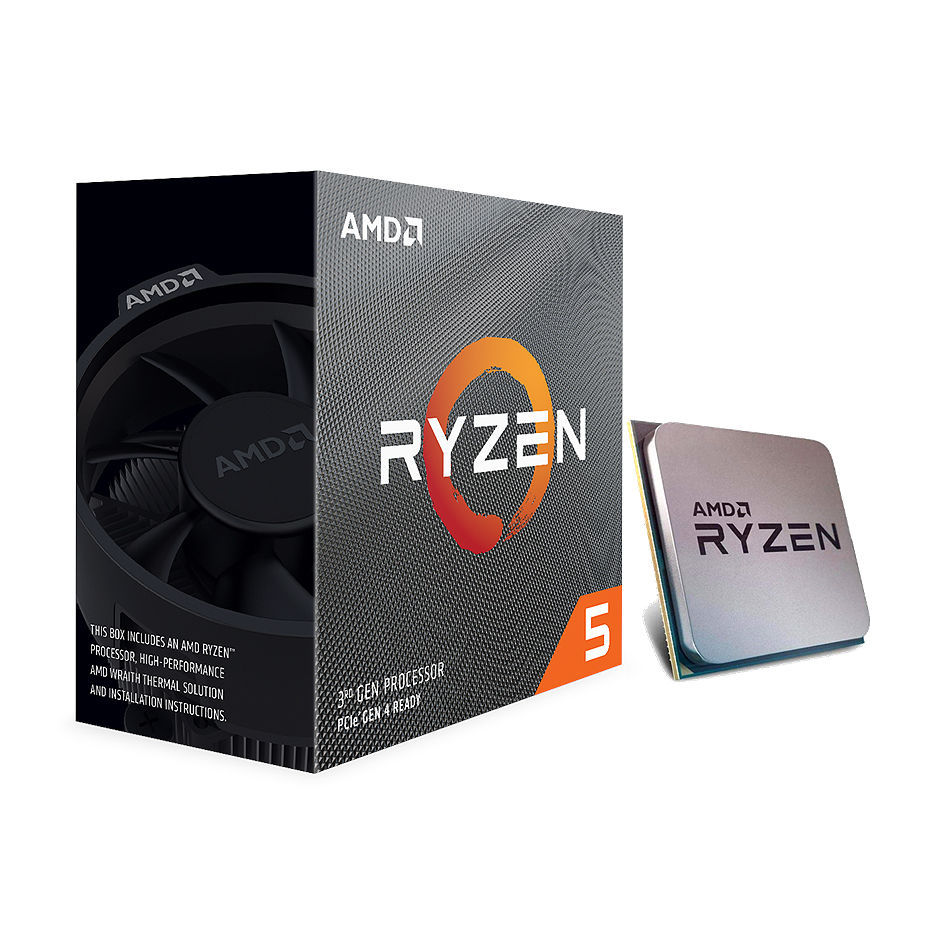 CPU AMD Ryzen 5 3500X 6-Core, 6 Threads, 3.6-4.1GHz, Unlocked, 3MB Cache, AM4, Wraith Stealth Cooler, BOX