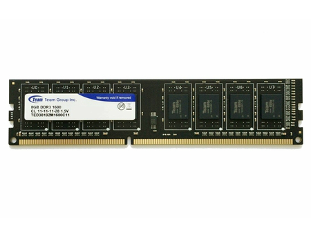 8GB DDR3 Team Elite TED38G1600C1101 8GB PC12800 1600MHz CL11, Retail (memorie/память)