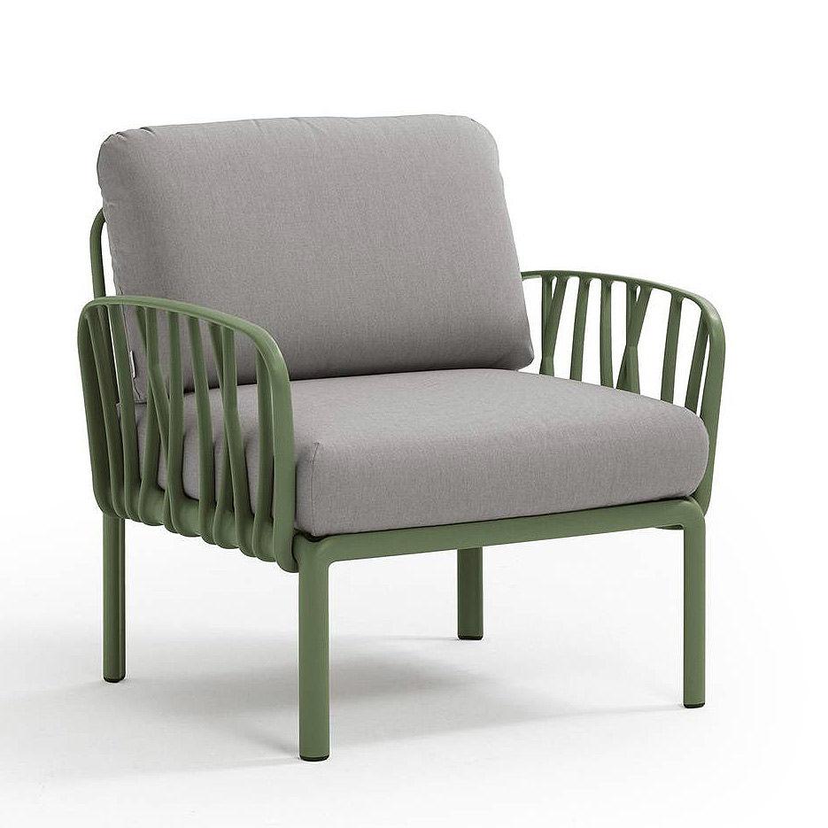 Кресло с подушками для сада и терас Nardi KOMODO POLTRONA AGAVE-grigio 40371.16.163