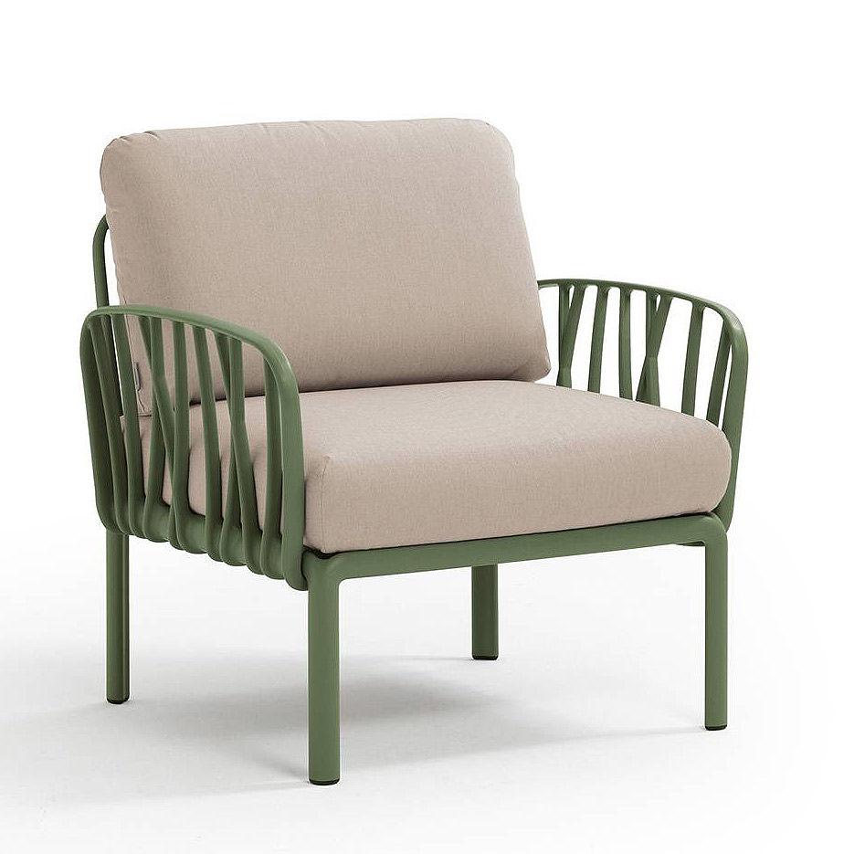 Кресло с подушками для сада и терас Nardi KOMODO POLTRONA AGAVE-canvas Sunbrella 40371.16.141