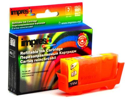Impreso IMP-DS-CC426Y Yellow Refillable Canon iP4840/4940/ MG5140/5240/ 5340/6140/ 6240/8140/ 8240/MX714/ 884/894/ iX6540, w/chip (10ml) (cartus/картридж)