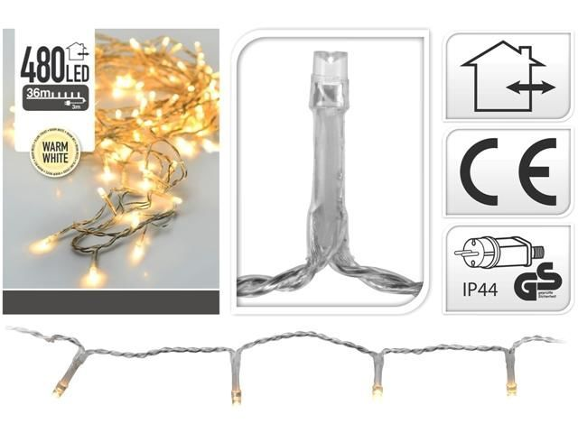 Luminite de sarbatoare Fir alb-cald,cablu transparent
