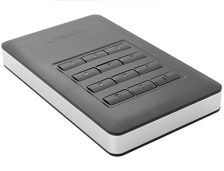 "2.5"" 1TB External HDD Verbatim Store'n'Go Secure, USB 3.1 with USB-C Connection, AES 256-bit Hardware Encryption, Built-in keypad , 53401, (hard disk extern HDD/внешний жесткий диск HDD)"