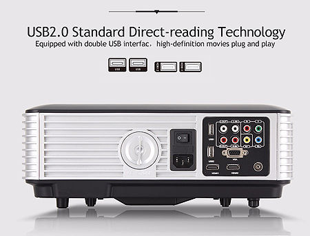 """Projector ASIO LED RD806, 5.8"""" LCD TFT, 2800 lumens, 1500:1, 1280 x 800, 720P/1080P, LED Lamp 140W, Lamp Life: 50000 hours, Picture size: 1.25m - 5m, Projection Distance: 1.5 - 8 m, Speakers 2x3W, 2xHDMI/2xUSB/VGA/AV/Audio Out ( proiector / проэктора )"""