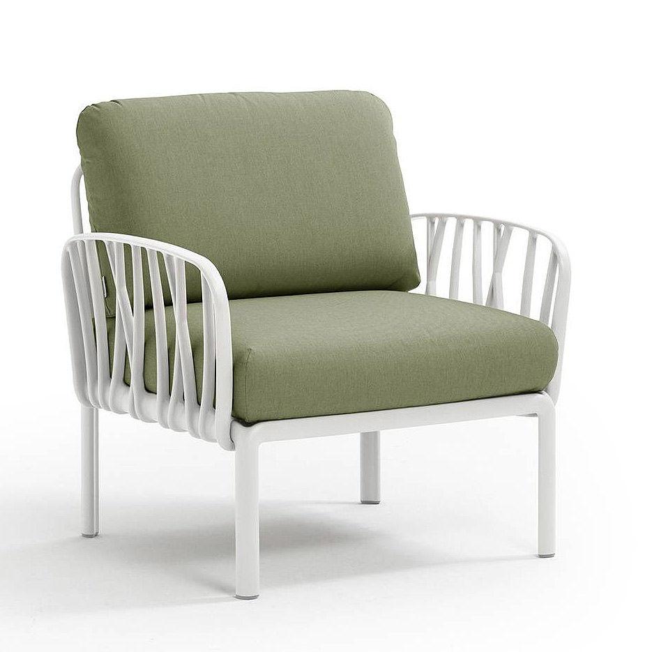 Кресло с подушками для сада и терас Nardi KOMODO POLTRONA BIANCO-giungla Sunbrella 40371.00.140