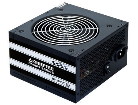 500W ATX Power supply Chieftec GPS-500A8, 500W, Black, ATX-12V V.2.3 PSU, FAN 12cm, 3xSATA, 1x PCI Express, Retail+Power Cable, Active PFC (Power Factor Correction)