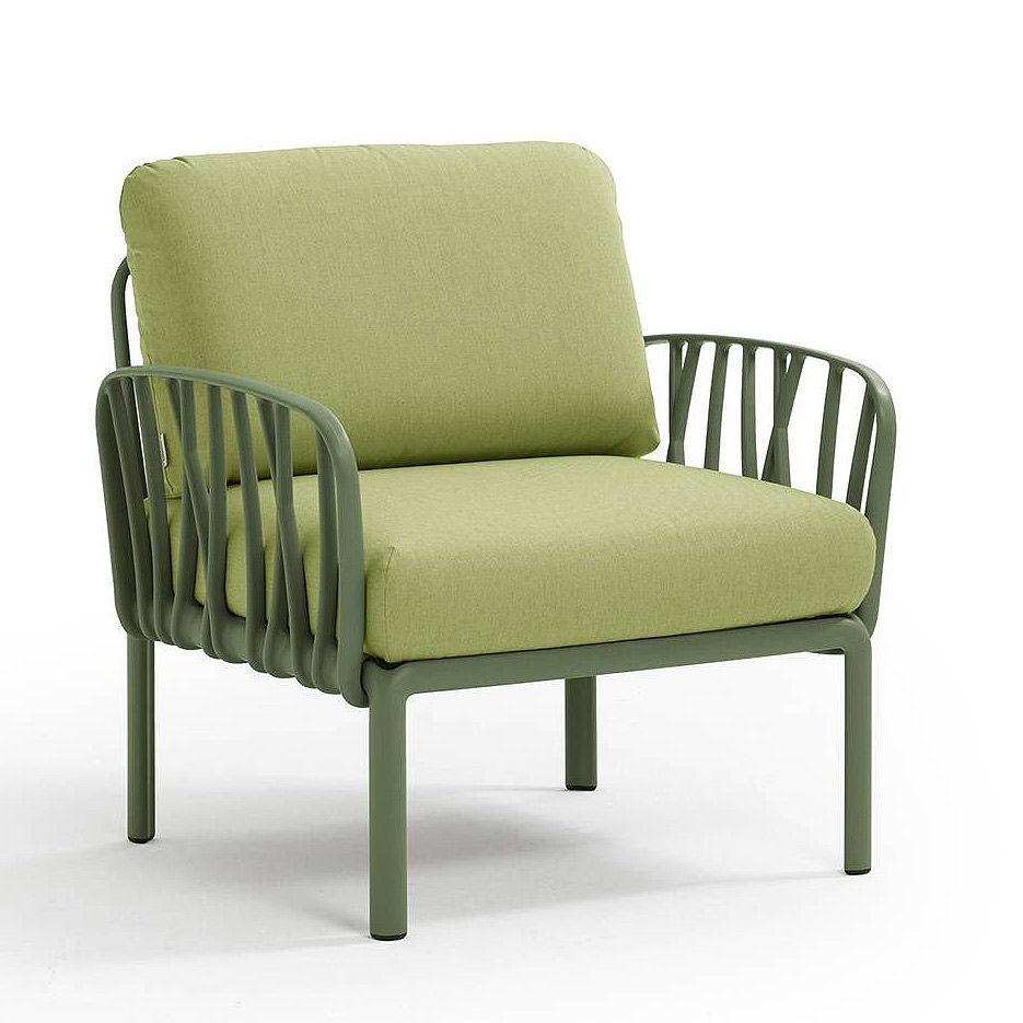 Кресло с подушками для сада и терас Nardi KOMODO POLTRONA AGAVE-avocado Sunbrella 40371.16.139