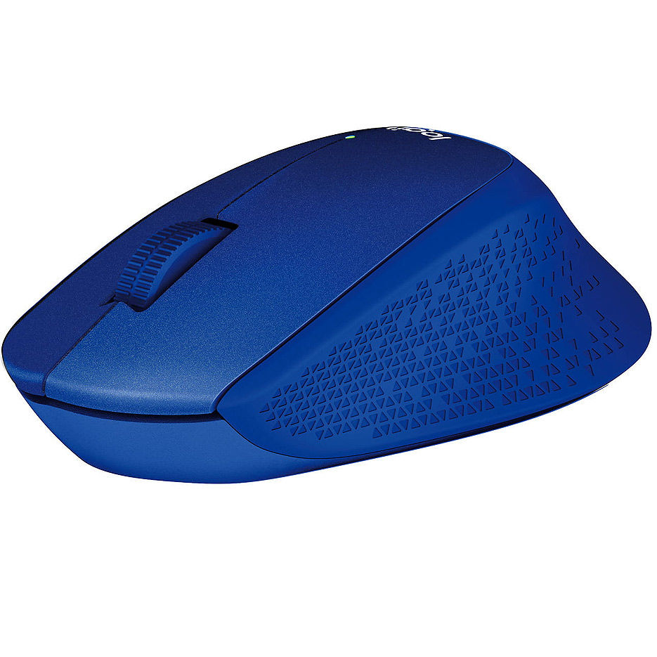 Мышь беспроводная компьютерная  Logitech Wireless M330 Silent Plus Blue, Optical Mouse for Notebooks, nano receiver, Blue, 910-004910