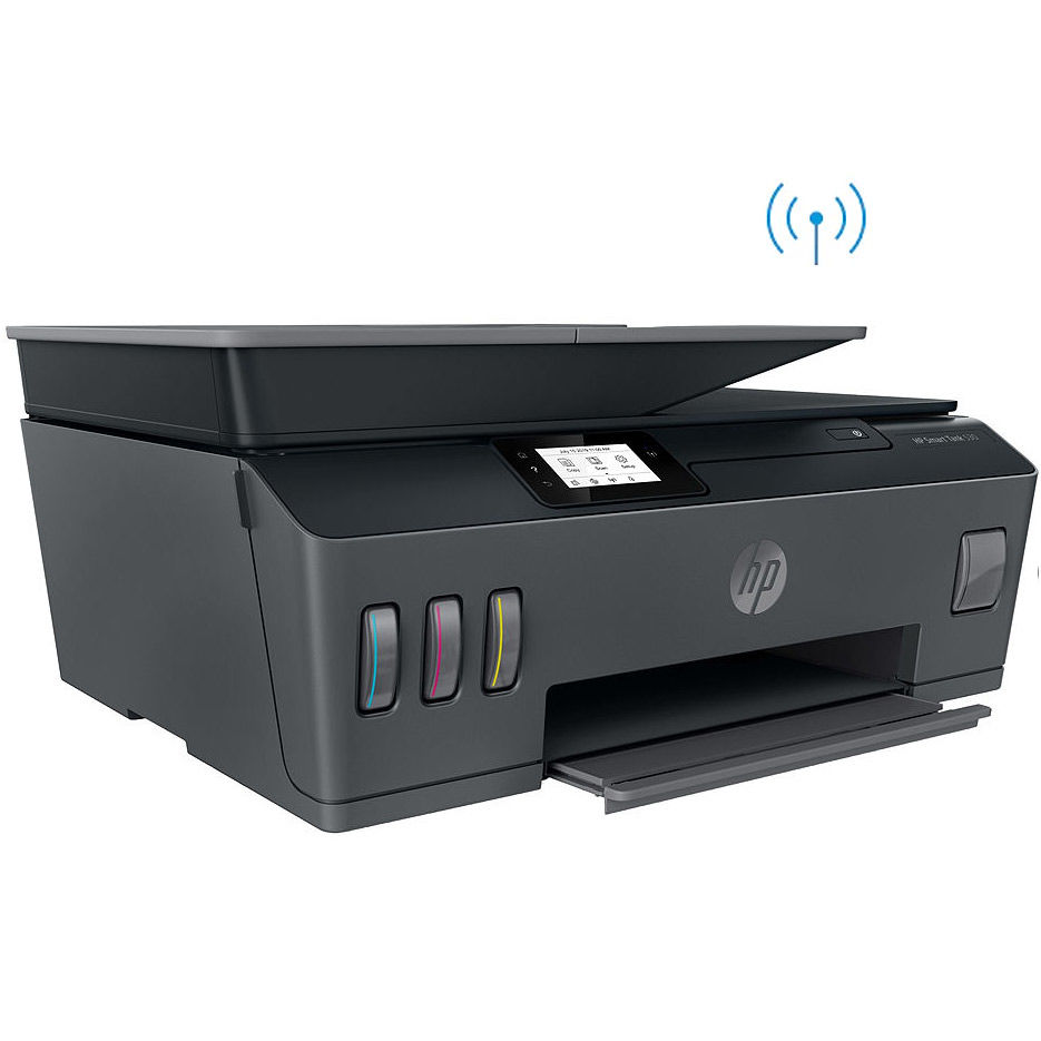 Multifunctional inkjet MFD CISS HP Smart Tank 530 Wireless, Black/Gray, A4, ADF 35p, up to 11ppm/5ppm black/color, up to 4800x1200 dpi, Up to 800 p/m, 800Mhz, 256 Mb, 7 segment LCD, Hi-Speed USB 2.0, Wi-Fi, Bluetooth LE, (3*GT53XL Black 135ml, 1*GT52 C/M/Y)