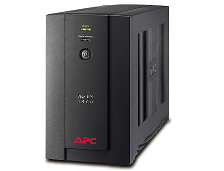 UPS APC Back-UPS BX1400U-GR, AVR, 1400VA/700Watts, Input: 150-280V, 50/60 Hz +/- 3 Hz (auto sensing), Line Interactive, Schuko Sockets