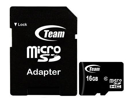 16GB Team MicroSDHC Class 10 + Adapter MicroSD->SD, Read 20MB/s Write 14MB/s, TUSDH16GCL1003 (card de memorie/карта памяти)