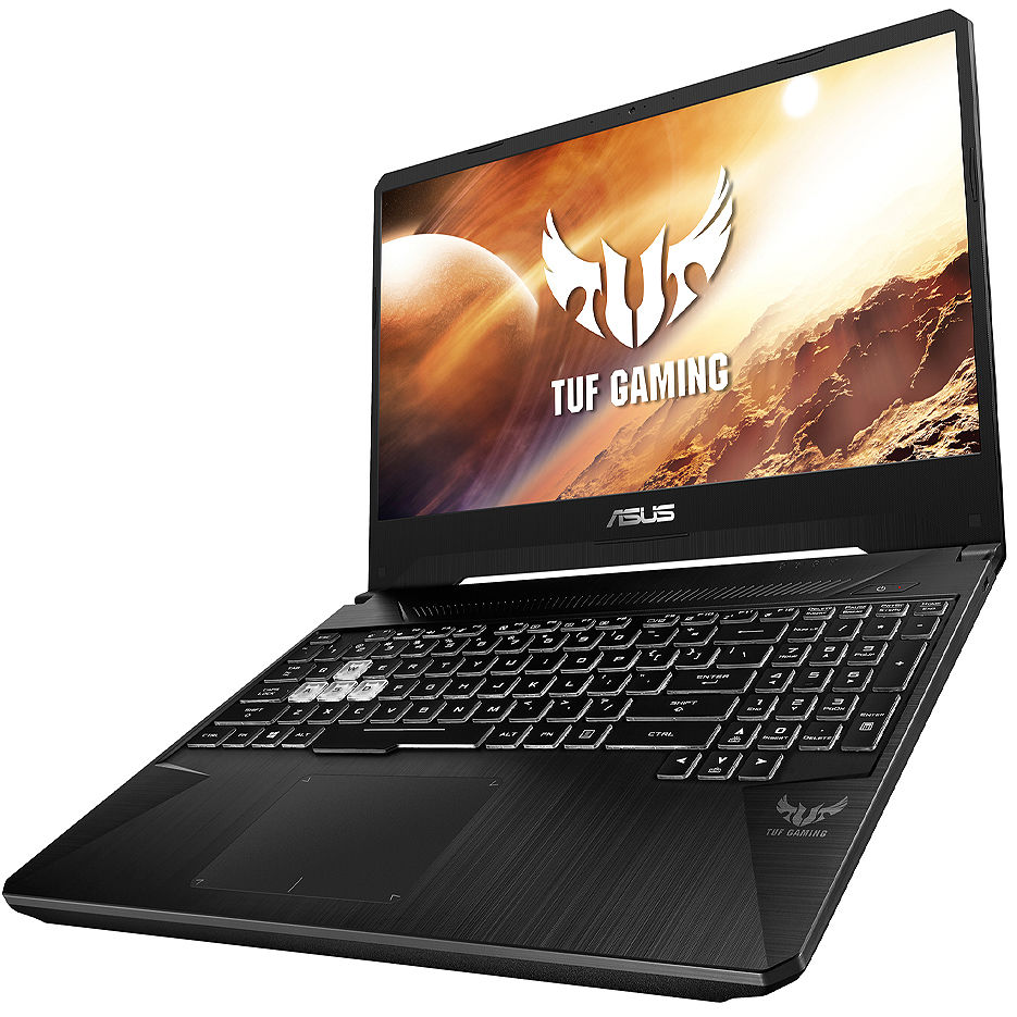 "Ноутбук 15.6"" ASUS TUF FX505DT, AMD Ryzen 5 3550H 2.1-3.7GHz/8GB DDR4/M.2 NVMe 512GB SSD/GeForce GTX1650 4GB GDDR5/WiFi 802.11AC/BT5.0/HDMI/Webcam HD/Backlit RGB Keyboard/15.6"" FHD IPS LED-backlit 144Hz (1920x1080)/No OS/Gaming FX505DT-HN450"