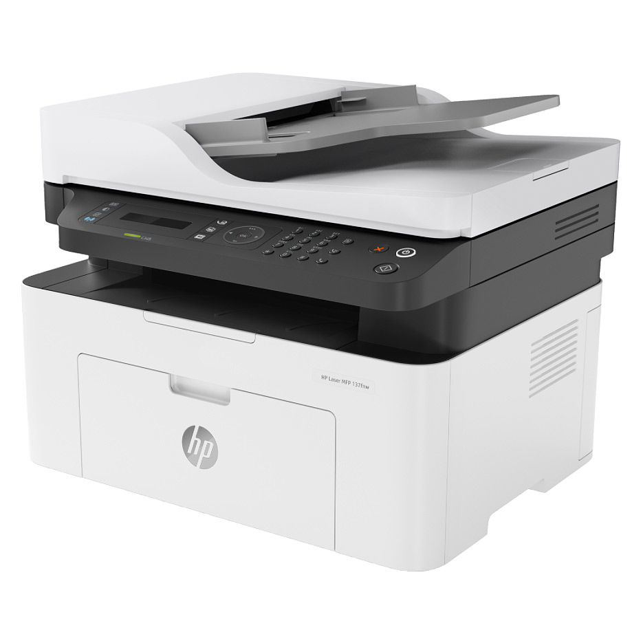 "МФУ лазерное MFD HP LaserJet Pro 137fnw, White, A4, Fax up to 20ppm, 128 MB, 40-sheets ADF, 2,7"" touch LCD, 600dpi, up to 10000 pages, PCLmS, URF, PWG, HP ePrint, Hi-Speed USB 2.0, Fast Ethernet 10/100Base-TX, Wi-Fi 802.11b/g/n, (W1106A)HP 106A"