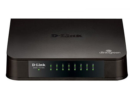 D-Link DES-1016A/E1B, 16-port UTP 10/100Mbps Auto-sensing, Stand-alone, Unmanaged (retelistica switch/сетевой коммутатор)
