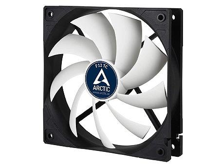 Case/CPU FAN Arctic F12 TC, Temperature Control, 120x120x25 mm, 3-pin, 300-1350rpm, Noise 0.3 Sone, 53 CFM / 90.1 m3/h