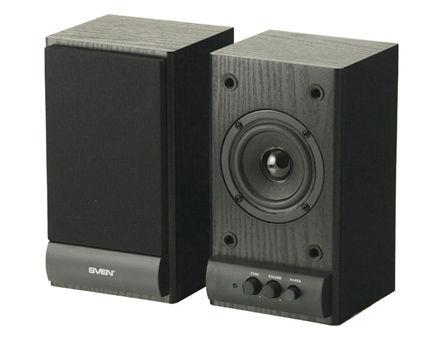Active Speakers SVEN SPS-607 Black, RMS 6W, 2x3W, дерево (boxe sistem acustic/колонки акустическая сиситема)