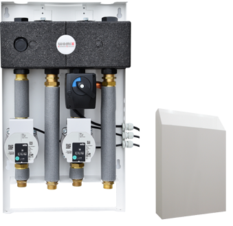 Sistem MIX-BOX 2 cu grupuri SA 83 și SMTC 83 cu pompă WILO Yonos Para RS 15/6 RKA