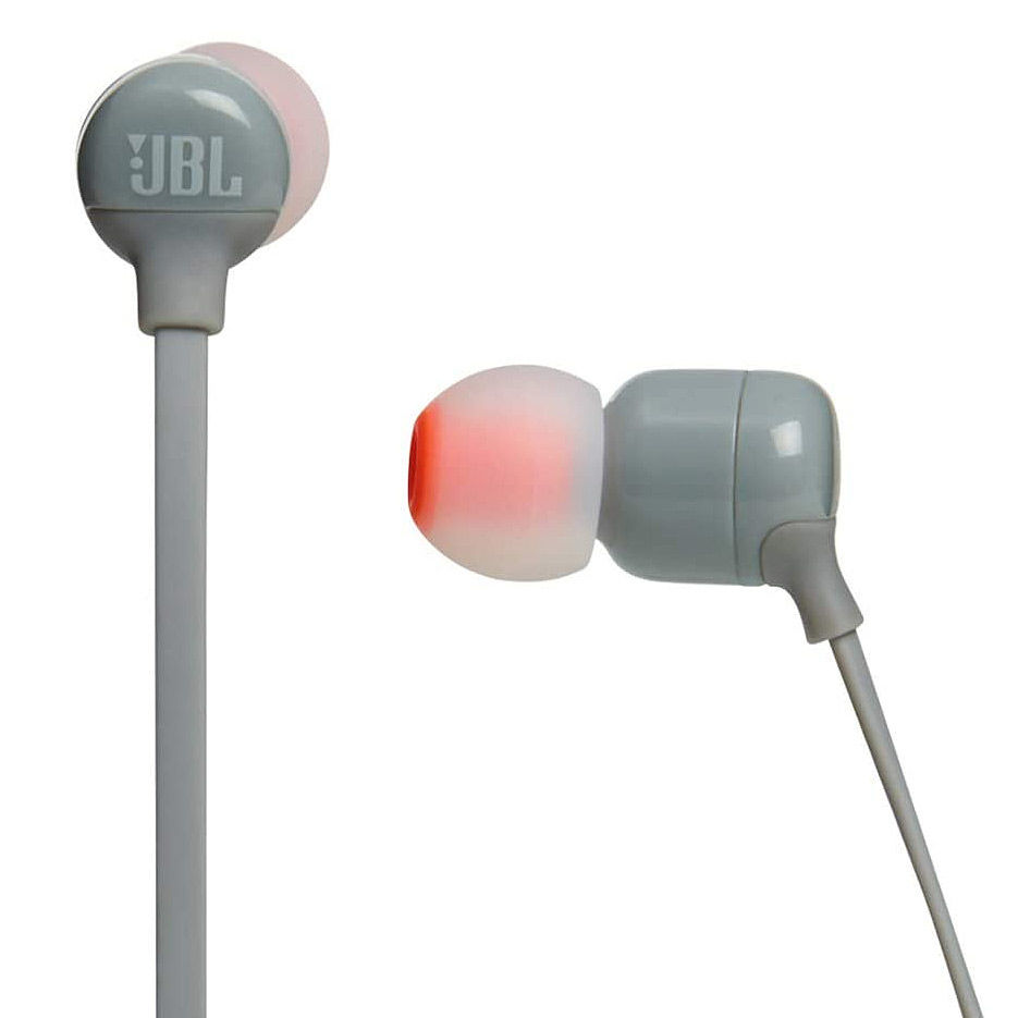 JBL Tune T110BT Grey Bluetooth Wireless In-Ear Headphones, 20Hz-20kHz, 16 Ohms, 96dB, Microphone, Remote, BT4.0, 120 mAh Lithium-Ion Polymer up to 6 hours, JBLT110BTGRY (casti cu microfon fara fir JBL / беспроводные наушники с микрофоном JBL)