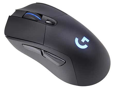 Logitech G703 Lightspeed HERO Wireless Gaming Mouse, RGB Lighting, Sensor HERO 16K, Buttons: 6, Resolution:100–16,000 dpi, Connection: Wired/Wireless, 910-005640 (mouse/мышь)