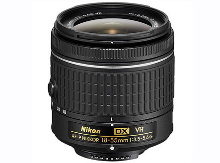 Nikon AF-P DX NIKKOR 18-55mm f/3.5-5.6G VR (NEW Lens) (w/b), DX, filter: 55mm, JAA826DA (Obiectiv Nikon/ обьектив Nikon)