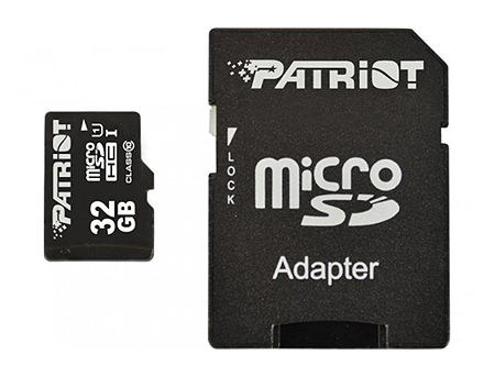32GB Patriot LX Series Professional MicroSDXC UHS-I Class 10 + Adapter MicroSD->SD, Read 85MB/s, PSF32GMCSDHC10 (card de memorie/карта памяти)