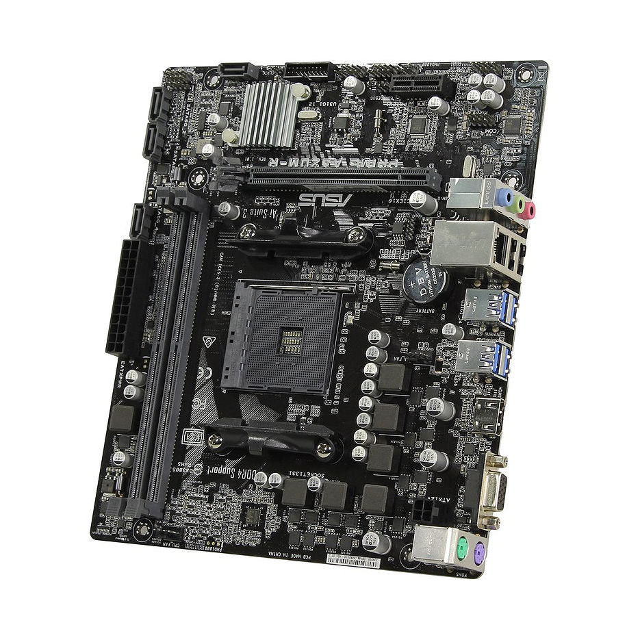 Placa de baza  ASUS PRIME A320M-R-SI A320, AM4, Dual DDR4 3200MHz, PCI-E 3.0/2.0 x16, HDMI/RGB, USB 3.1, SATA RAID 6Gb/s, M.2 x4 Socket, SB 8-Ch., GigabitLAN, LED lighting, (placa de baza/материнская плата)