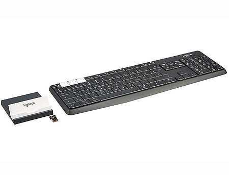 Logitech K375s Black Multi-Device Wireless Keyboard and Stand Combo, Graphite/OffWhite, Bluetooth, 920-008184 (tastatura fara fir/беспроводная клавиатура)
