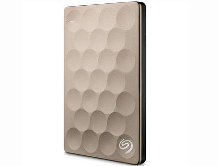 "2.5"" 1TB External HDD Seagate Backup Plus Ultra Silm Portable ( STEH1000201 ), Gold, USB 3.0 (hard disk extern HDD/внешний жесткий диск HDD)"