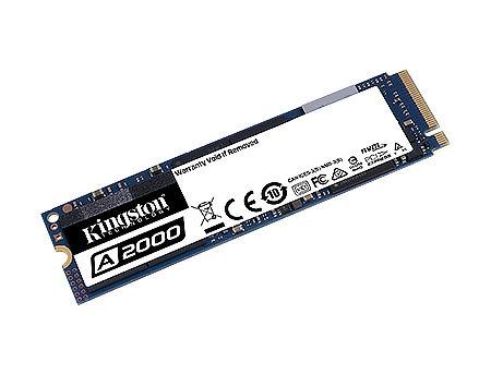 500GB SSD M.2 Type 2280 PCIe NVMe 3.0 x4 Kingston A2000, SA2000M8/500G, Read 2200MB/s, Write 2000MB/s, SA2000M8/500G (solid state drive intern SSD/внутрений высокоскоростной накопитель SSD)