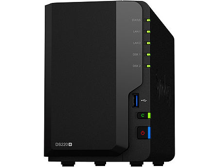"Synology DiskStation DS220+, 2-bay NAS Server for Home to Business, Intel Celeron J4025 DualCore 2.9GHz, 2GB DDR4, 2 x 3.5"" or 2.5"" SATA3, 2xUSB 3.0, 2xGigabit LAN (retelistica NAS pentru HDD/сетевой дисковый накопитель для HDD)"