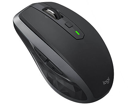 Logitech MX Anywhere 2S Graphite Wireless Mobile Mouse, Multi-computer workflow, Bluetooth Smart, USB Unifying Receiver, 910-005132 (mouse fara fir/беспроводная мышь)