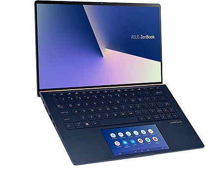 "Ноутбук 13.3"" ASUS ZenBook 13 UX334FLC Royale Blue, Intel i5-10210U 1.6-4.2Ghz/8GB/SSD 512GB M.2 NVMe/GeForce MX250 2GB/WiFi 6 802.11ax/BT5.0/HDMI/HD WebCam/Illum. Keyb./ScreenPad 5.65""/13.3"" IPS LED Backlit FullHD NanoEdge (1920x1080)/Windows 10 UX334FLC-A3108T"